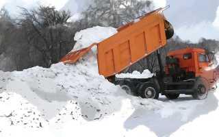 Вывоз снега с придомовой территории многоквартирных домов